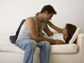 happier couple with relationship skills through couples counseling
